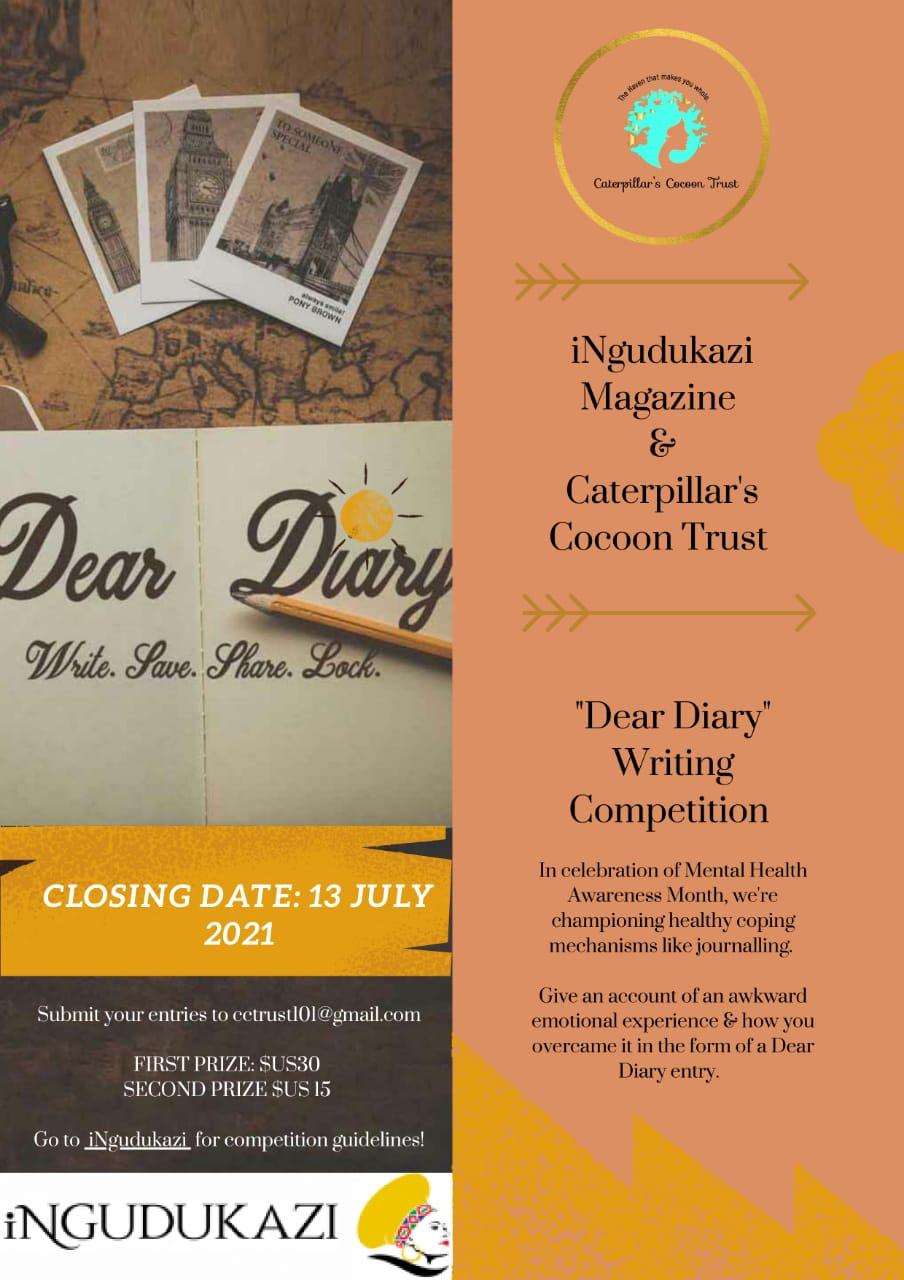 iNgudukazi x Caterpillar's Cocoon Trust 'Dear Diary' Entry Details